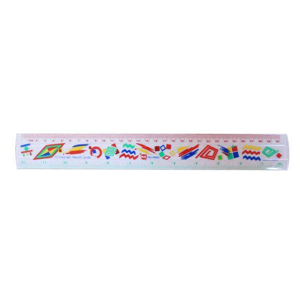 Χάρακας Πλαστικός με Σχέδια 30cm