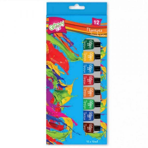 Τεμπερες 12 χρωμάτων GROOVY