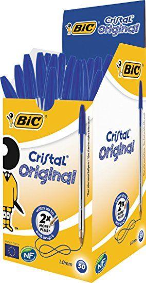 Στυλό Διαρκείας Bic Cristal Medium Μπλε 50τεμ