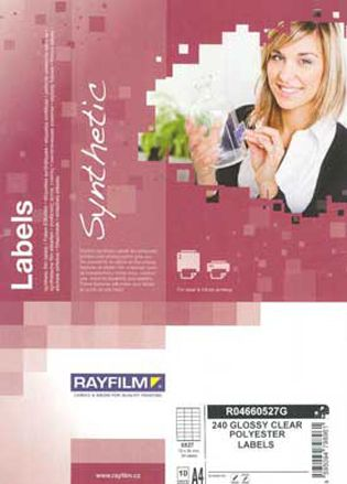 Ετικέτες για Εκτυπωτή Διαφανείς RAYFILM