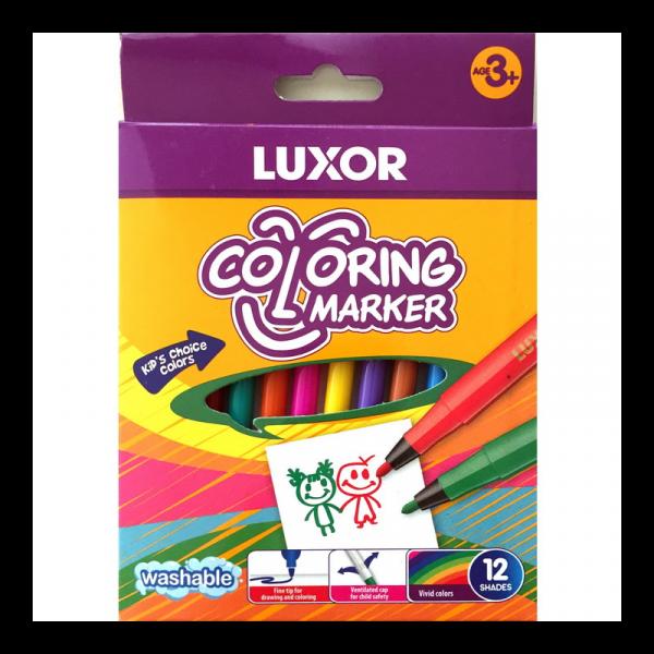 Μαρκαδόροι Λεπτοί 12 χρωμάτων Luxor