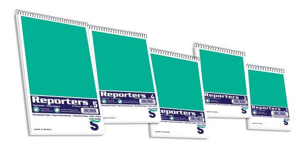 Μπλοκ Σημειώσεων Σπιράλ Reporters Λευκό No.3 SKAG