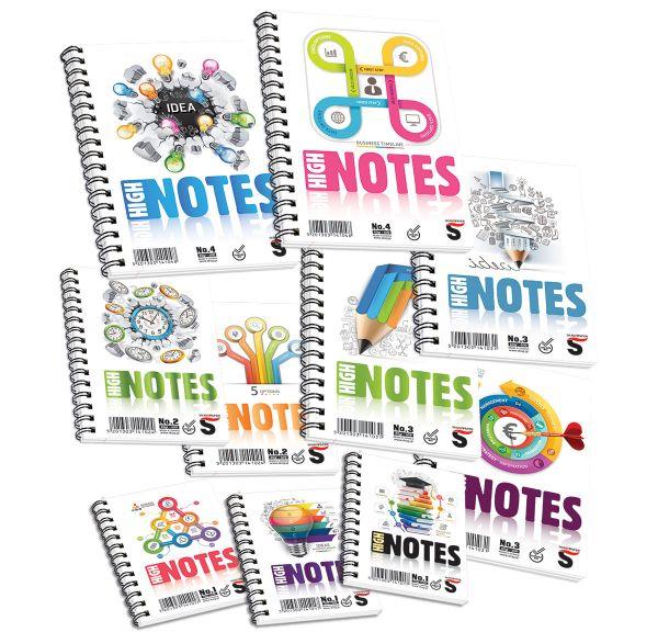 Μπλοκ Σημειώσεων Σπιράλ High Notes No.2 SKAG
