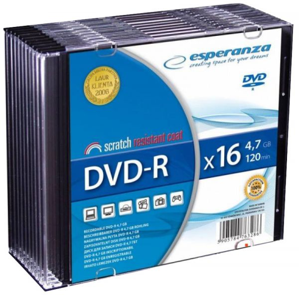 DVD-R 4,7GB Esperanza Slim