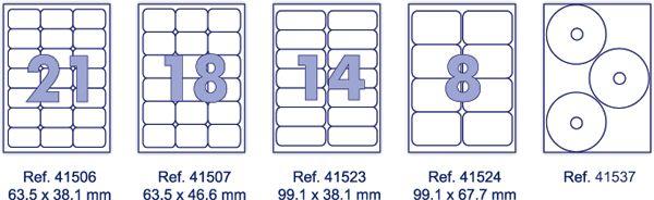 Ετικέτες C/L Α4 70x42.4mm 100Φ FORPUS