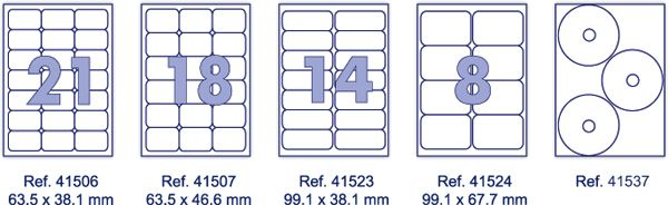 Ετικέτες C/L Α4 210x148297mm 100Φ FORPUS