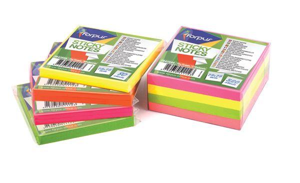 Χαρτάκια Σημειώσεων Ροζ 75x75mm 80Φ FORPUS