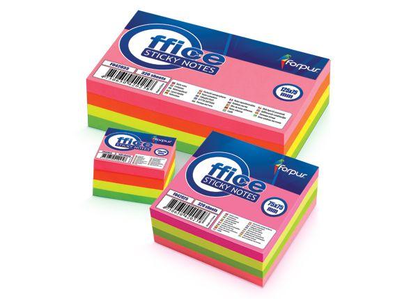 Χαρτάκια Σημειώσεων 75x75mm Χρωματιστά 320Φ FORPUS