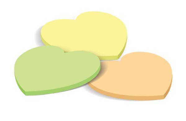 Χαρτάκια Σημειώσεων Καρδιά 40Φ FORPUS