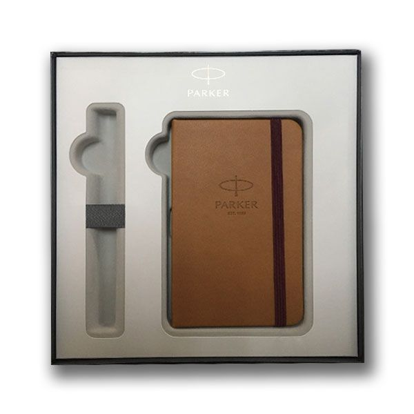 Σετ Δώρου Στυλό Ballpen IM Parker Premium Brown +Σημειωματάριο
