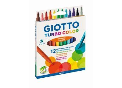 Μαρκαδόροι Λεπτοί 12 Χρωμάτων GIOTTO TURBO COLOR